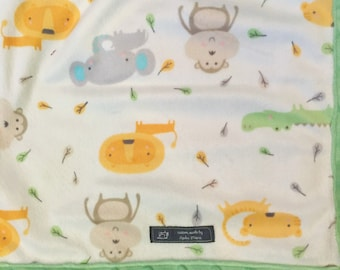 Zoo Animals Baby Blanket, Gender Neutral Blanket, Baby Blanket