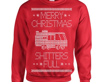 Shitters Full Christmas Sweater griswolds geek nerd movie gift party vacation retro - Apparel Clothing - Crew Sweatshirt - Sweatshirt - 361