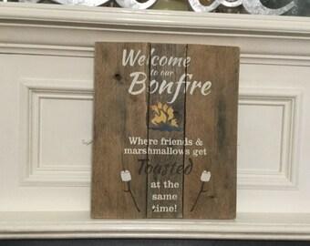 Bonfire Sign