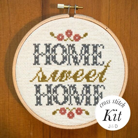 Basket Weaving Supplies Portland Oregon : Home sweet foyer modern cross stitch kit from