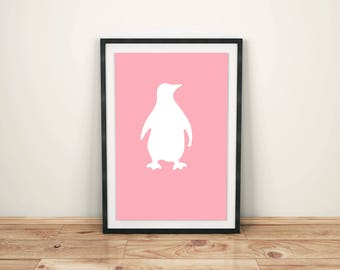 Animal Print Nursery Animal Print Nursery Décor Nursery Print Nursery Art Zoo Animals Penguin Print Penguin Art Print Antarctic Animal