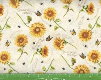Follow the Sun, sunflowers,butterflies,bees,Willimington Prints