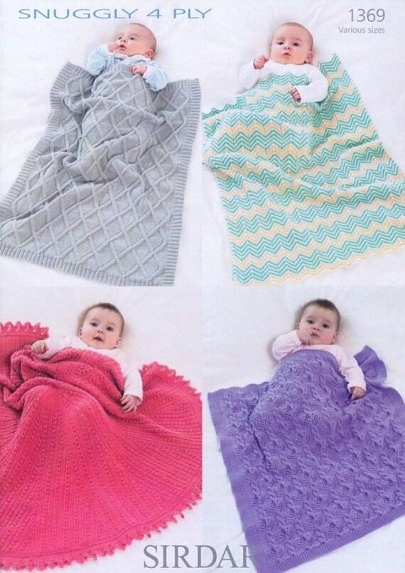 Sirdar 4 Ply Baby Knitting Patterns : Sirdar Knitting Pattern Circular Shawl and Blankets in 4 ply