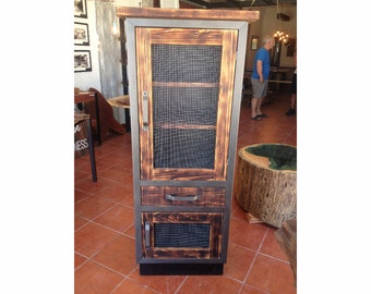 Rustic Industrial Tall Cabinet