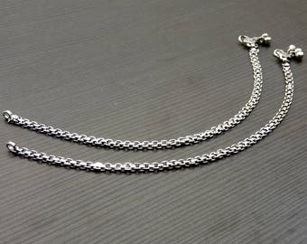 Barefoot anklet | Indian traditional anklet | Silver plated anklets | Girls gift jewelry anklet | Girls payal | Boho tribal anklet | A144