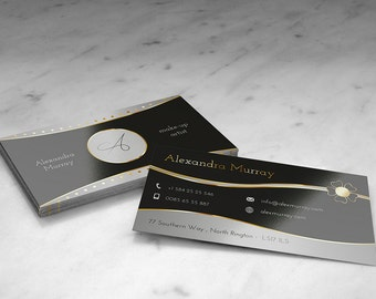 Elegant business cards black and gold