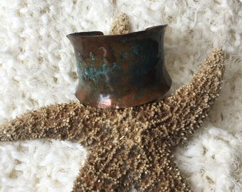 Copper Cuff Bracelet from Throwing Stars by Amy Leff