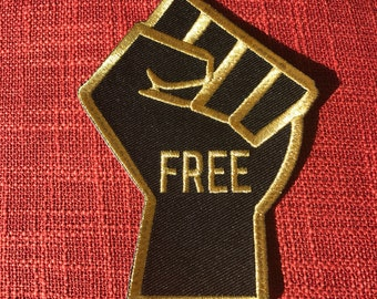 FREEdom Fist - Embroidered Iron-On Patch