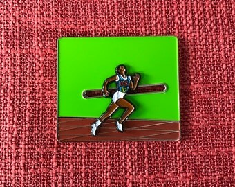 Wilma Rudolph Running/Moving Lapel Pin - Soft Enamel