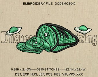 Green Eggs and Ham Embroidery Design, Green Eggs and Ham Embroidery file, DODEMOB042