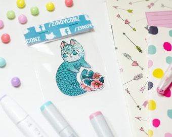 Mermaid kitty sticker pack