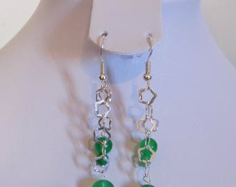Earring in 925 Silver and aventurine