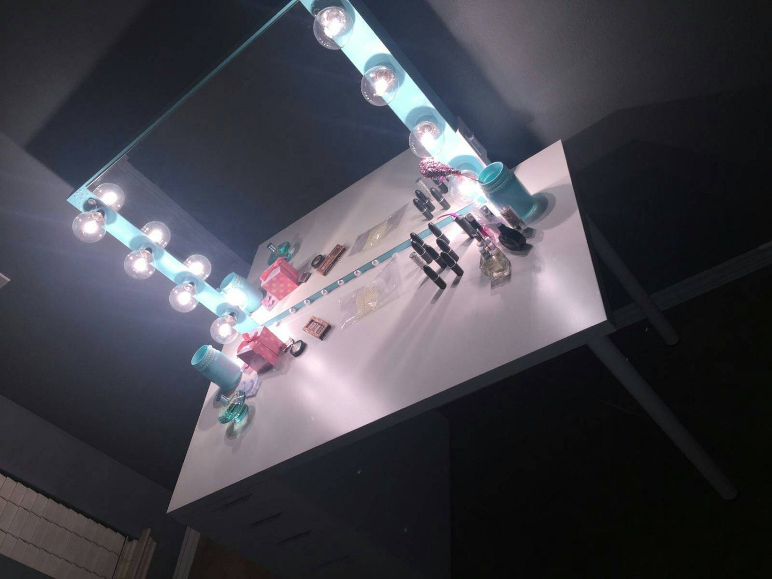 Vanity mirror with Hollywood lighting. BULBS NOT by Charmvanities