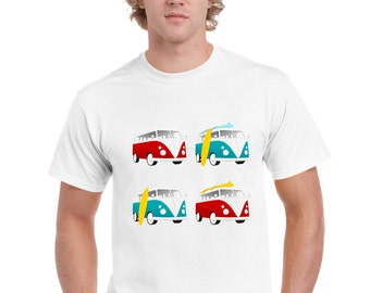 VW Camper Surf Style Design T Shirt by Ameiva Apparel