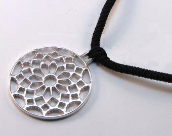 Pendant in Silver 925 rosette Gothic, collection CHARTRES.