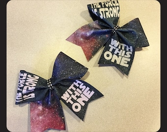 Sublimated glitter Star Wars Cheer Bow