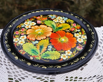 hand painted plate ukrainian petrykivka decorative plate wall decor gift idea gift for mother folk art - Decorative Plates For Wall