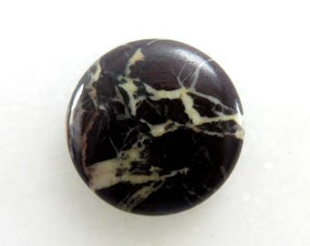 23Cts Australian Chocolate Jasper Round Shape Loose Gemstone Cabochon Semi Precious Jewelry Making Gemstone 24X24X5mm B-11703