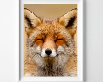 Fox Wall Art fox print. fox wall art. fox poster. watercolor fox printable.