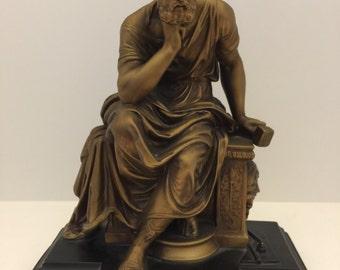 "VERY RARE 1950's- 1960's Alexander Backer ""Socrates"" Statue"