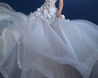 Wedding Dress 3D fabric, 3D