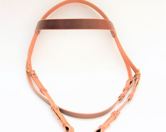 Medium English Bridle Genuine Leather (DarkBrown)