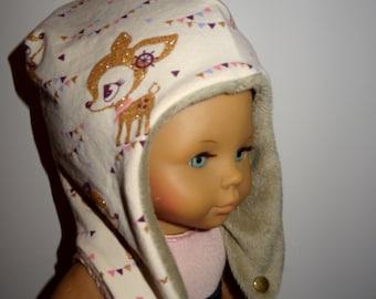 """Kindermütze """"Reh"""" KU 49-51 cm"""