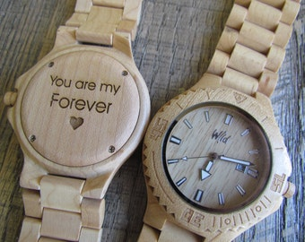FREE Engraving, Wood Watch, personalized husband watch, engraved gift,Mens watch,husband gift, 5th anniversary gift,personalized gift ,DR215
