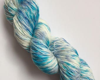 Icelandic Glacier Speck-Al Hand Dyed Sock Yarn 100g DYED TO ORDER