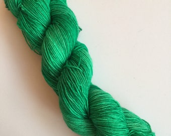 Emerald Semi-Solid Hand Dyed Sock Yarn 100g DYED TO ORDER
