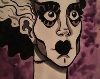 "The Bride (Original 7""x10"" Gouache Painting)"
