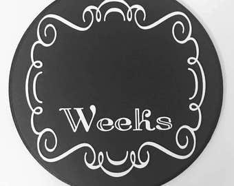 Weekly Maternity Photo Chalkboard, Chalkboard Pregnancy Photography Prop, Weekly Baby Bump Tracker