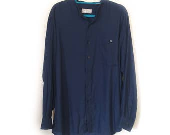 Blue Murano Button Down Shirt - Vintage (1990s) - Casual - Size L