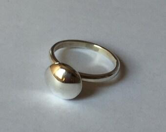 Handmade Sterling silver Pebble ring.