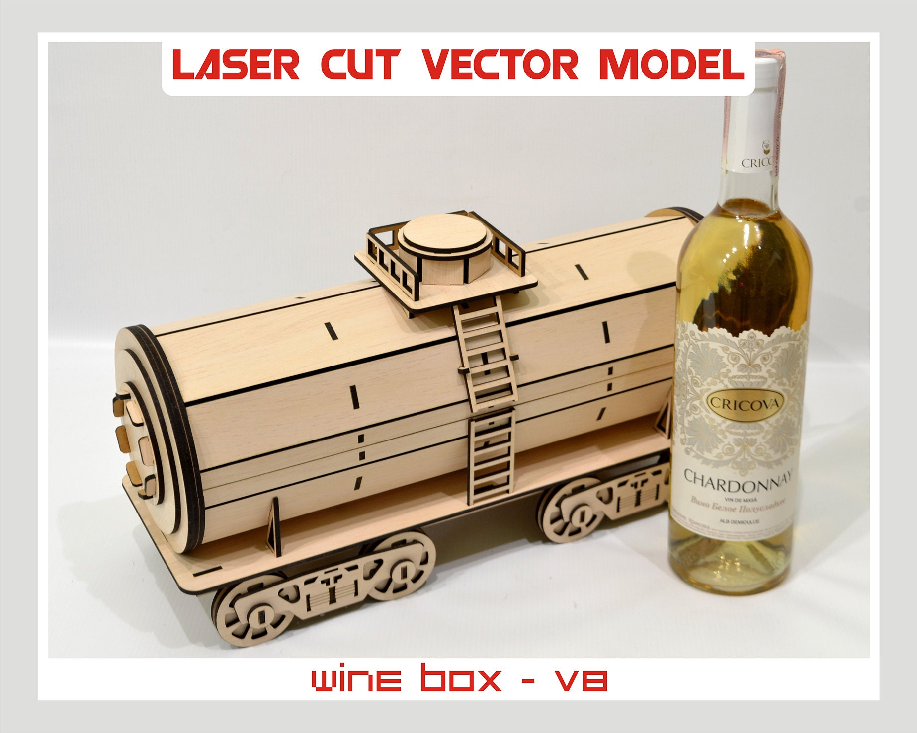 Wine box wood wine box plywood wine box laser cut for Timber wine box