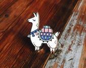 Alpaca Hard Enamel Lapel Pin Flair