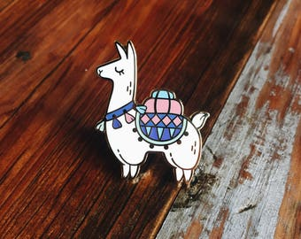 Alpaca Hard Enamel Lapel Pin Flair