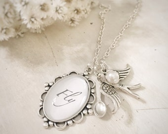 Cameo Necklace Fly Vintage Style Gift Jewelry Bridesmaid Friendship Necklace