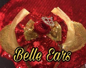 Belle Inspired Ears ( Full Sequins )