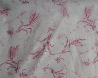 Pink sweet as a rose fabric 100% cotton