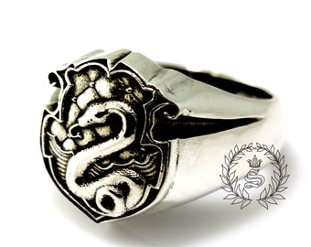Slytherin ring,Harry Potter ring, Sterling Silver 92.5%.