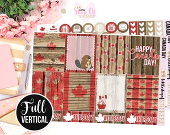 Canada Day || Weekly Planner Kit, Planner Stickers, Planner Sticker Kit, Independence Day Stickers, Canada Day Sticker Kit, Sticker Kit