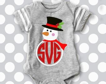 Snowman svg, snowman monogram svg, snowman iron on, printable, SVG, DXF, EPS, cut file, santa hat svg, snowman cut file, baby it's cold