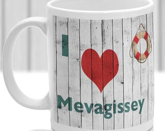 Mevagissey mug, Gift to remember Cornwall, Ideal present,custom design.
