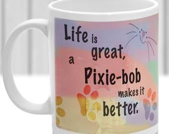 Pixie-bob cat mug, Pixie-bob cat gift, ideal present for cat lover