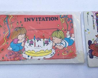Cute Little Boy & Girl | Birthday Party | Invitations