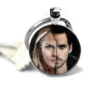 Emma Swan Captain Hook Keychain Once Upon a Time Key Ring Keyfob Fandom Jewelry Fangirl Fanboy