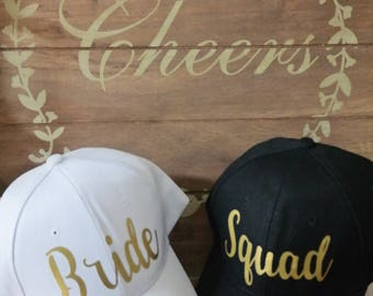 BRIDE SQUAD HAT   Bachelorette party   Wedding gift   Honeymoon gift   Baseball cap   Bridal shower