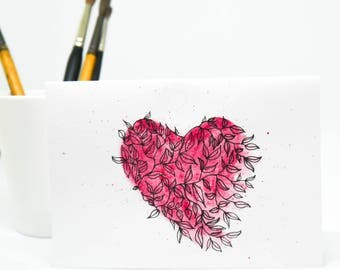 Greeting Card 'Love' (Large) - ORIGINAL