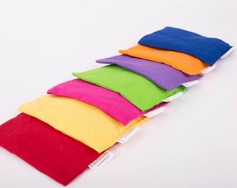 Sensory Beanbags set of 7 rainbow beanbags Montessori Inspired discovery toy